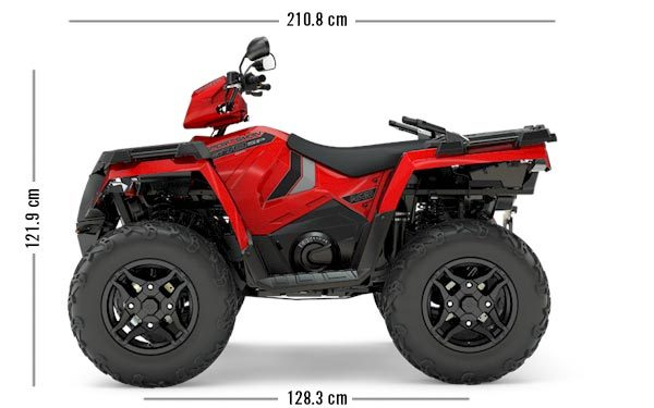 Polaris sportsman 570 EPS SP Sunset Red 2018
