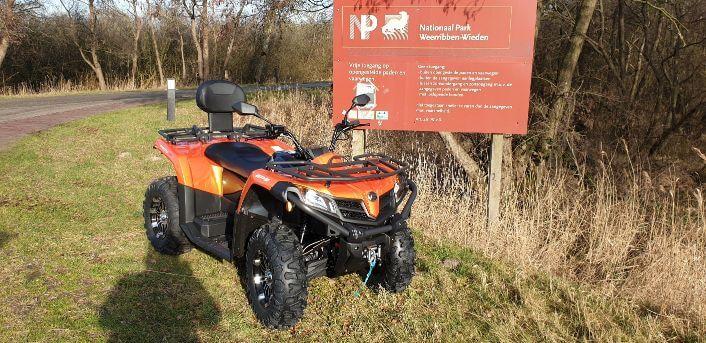 quad rijden in nationaal park de weerribben